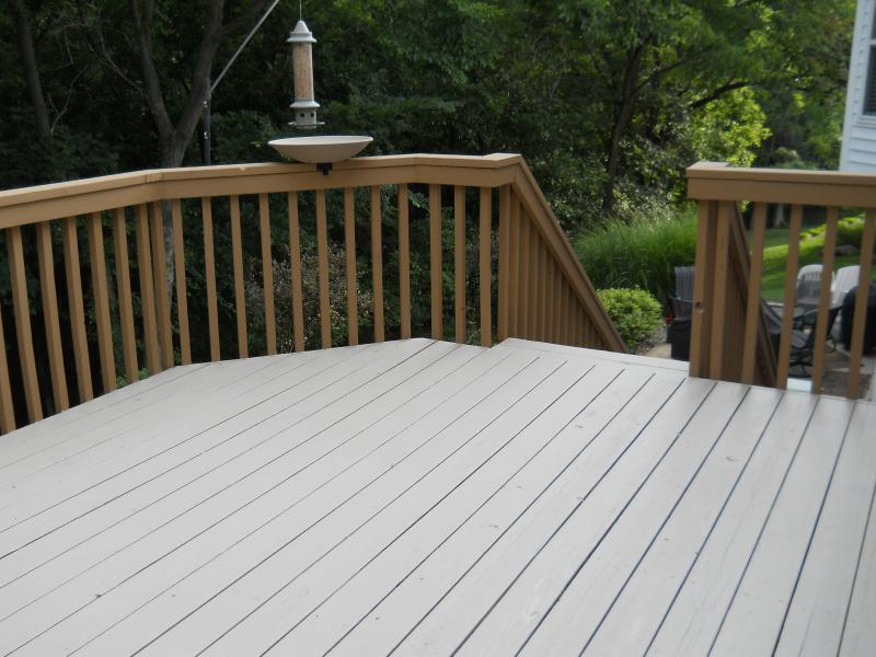 Deck Paint Before And After